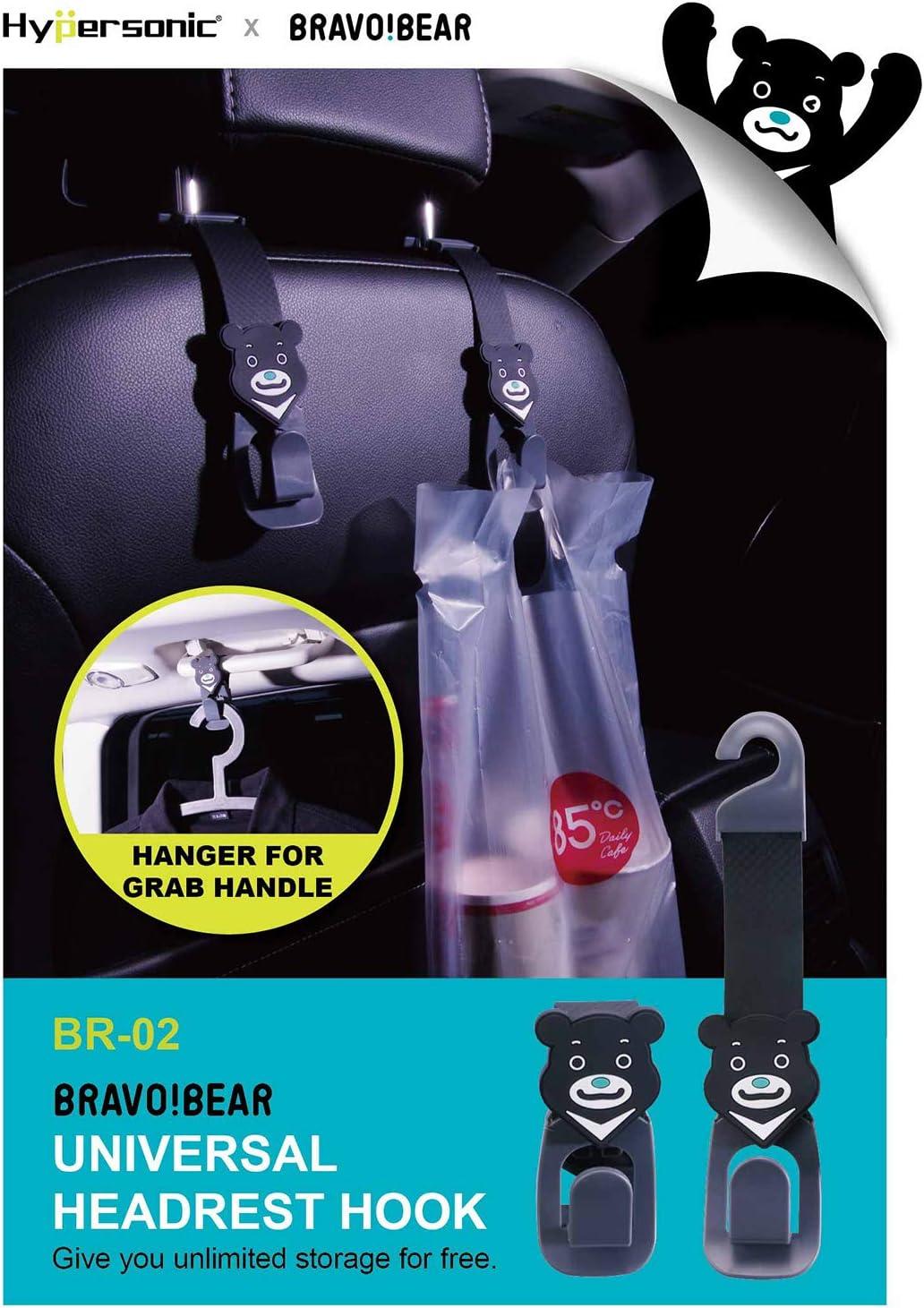 Hypersonic/® Color Negro Percha Universal para reposacabezas de veh/ículo