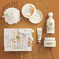 The Body Shop Almond Milk and Honey Premium Collection Gift Set, 4 piece Paraben-Free Bath and Body Gift Set