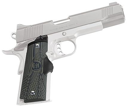 Crimson Trace LG-910 Master Series Lasergrips Red Laser Sight Grips for  1911 Full-Size Pistols - G10 Green/Black