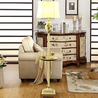 Europäische Stehlampe Wohnzimmer retro kleine Tisch Stehleuchte ...