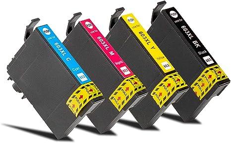 Pack de 4 cartuchos de tinta compatibles con Epson 603 XL Serie Etoile de Mer – para impresora de inyección de tinta Epson: Amazon.es: Electrónica