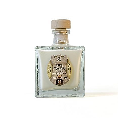 Botellita Miniatura de Licor de Crema de Arroz con Leche Torre María | botella Lorena