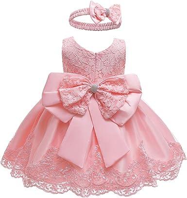 Blush Flower Girls Dress Rhinestones Pageant Wedding Easter Christmas Party Baby