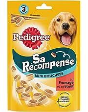 PEDIGREE Sa Récompense - Mini Bouchées au Bœuf et Fromage pour Chien, 6 Sachets de 140g de Friandises