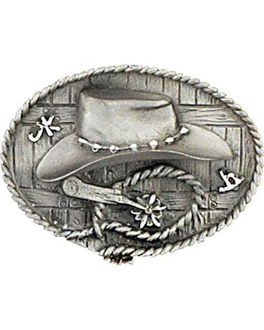 Western Express Men s Silver Cowboy Hat And Spurs Belt Buckle Silver One  Size 9b01c1faad3a