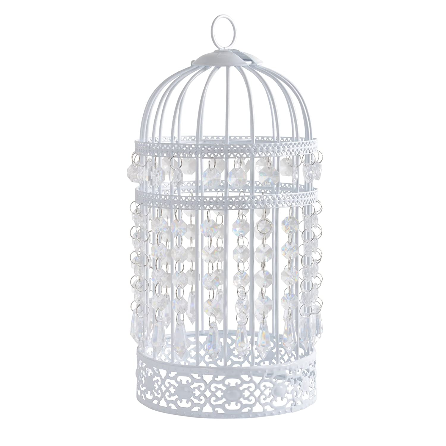 Cream Metal Ornate Shabby Chic 4 Way Birdcage Chandelier Ceiling