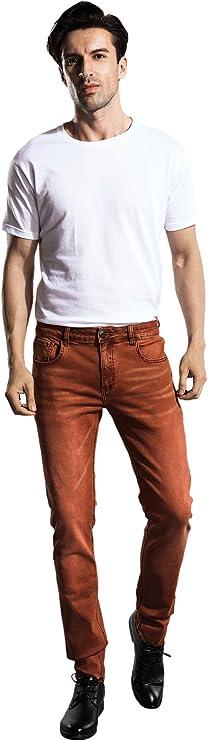 ZLZ Regular Fit Denim Jeans for Men, Mens 5 Pockets Classic Straight Leg Jean Pants