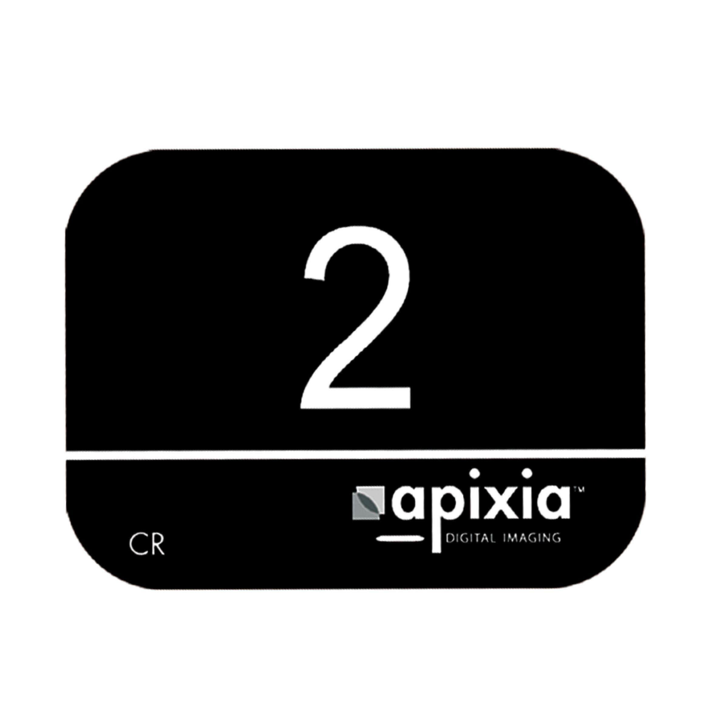 Apixia 10802 Phosphor Plates, 31 mm Height, 41 mm Length, 0.15 mm Thickness, Size 2 (Box of 4) by Apixia