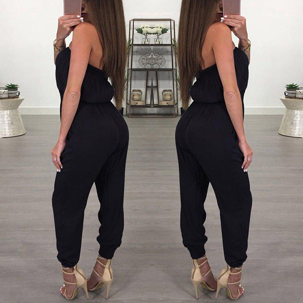 Fionda Gamba Larga Casual Senza Maniche Regolabile Salopette Jeans Moda Tempo Libero Tuta da Donna da Sera per Donna