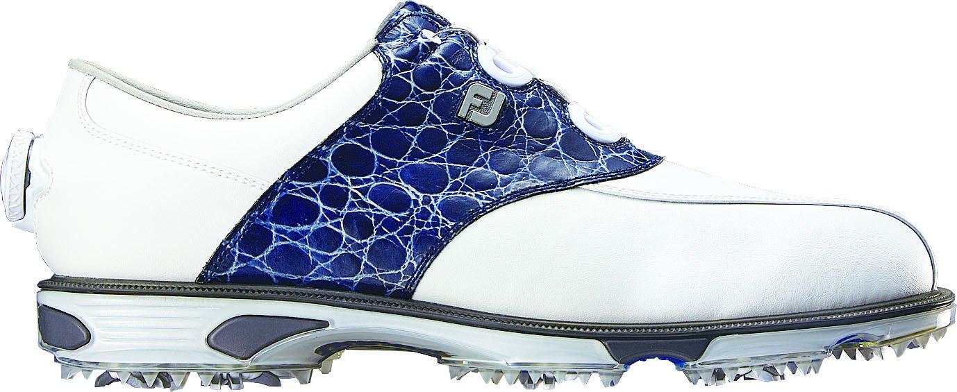 [フットジョイ] FootJoy ゴルフシューズ Dryjoys Tour Boa B013OCOEDO 27.0 cm Wide ホワイト/ブルー2016モデル