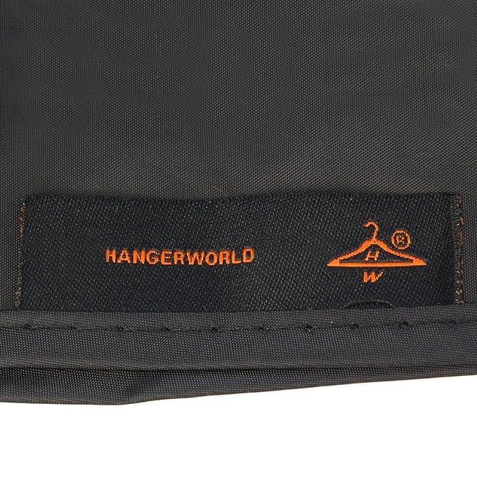 HANGERWORLD Black 6ft Waterpoof Nylon Zip Clothes Rail Cover Hanging Garment Storage Display