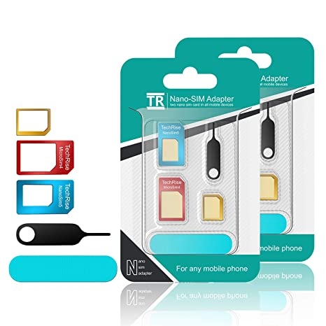e7872749063 Adaptador de TechRise 5 en 1 para tarjetas SIM, con lija y aguja para abrir