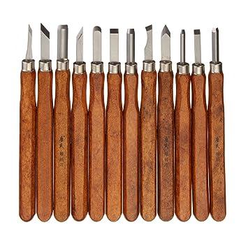 Becho - Juego de cuchillos para tallar madera (12 cuchillos ...