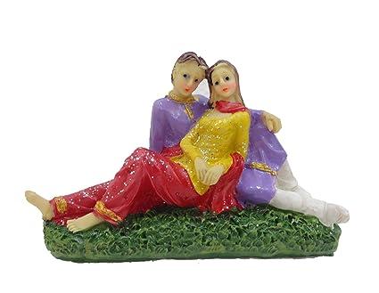 Buy Unique Palette Loving Couple Figurine Showpiece Statue Birthday