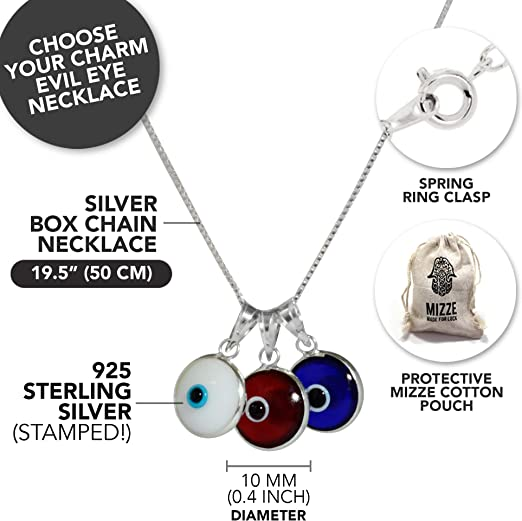 Boho Jewelry Good Luck Gifts Lucky Charm Necklace Item # C1071 Evil Eye Necklace Cimaruta Necklace Protection Necklace