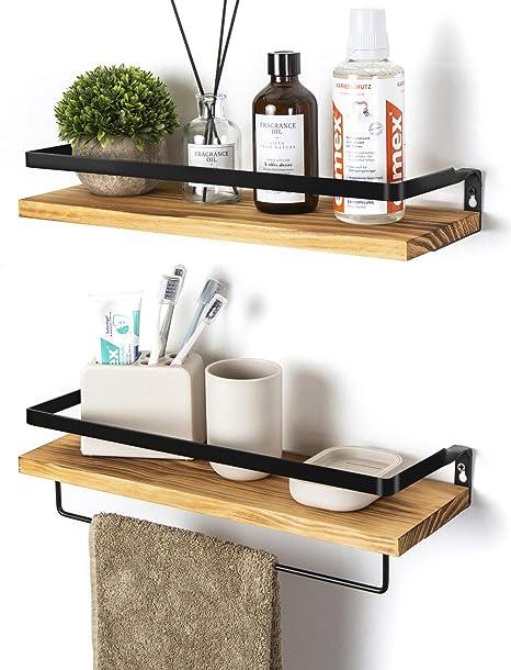 Soduku - Juego de 2 estantes de pared para cocina, baño