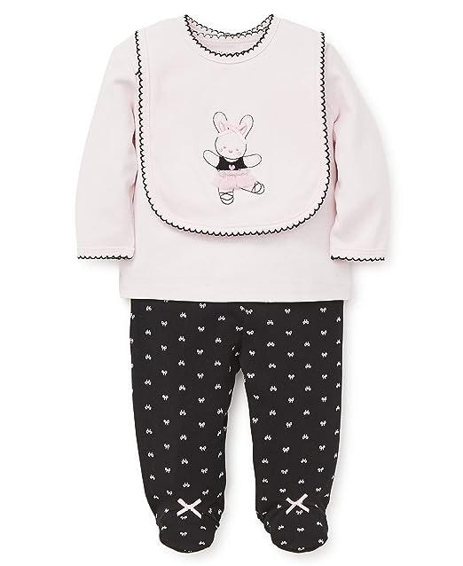 3f4c22e3a Amazon.com: Little Me Baby Girls Lap Shoulder Set with Bib: Clothing