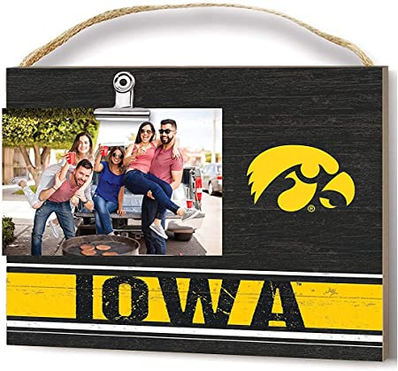 Amazon Com Kh Sports Fan Iowa Hawkeyes Clip It Team Colore Logo Photo Frame Multi