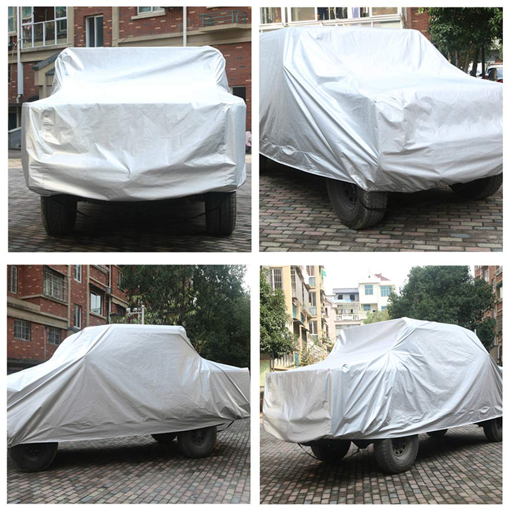 SEAZEN Car Cover Waterproof All Weather,Full car Covers UV Protection//Snowproof//Dustproof,Universal car Cover 5 Layer Breathable Fabric with Cotton(193 L x 76 W x 59 H SUV)