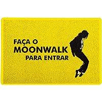 Capacho / Tapete 60x40cm - Faça o Moonwalk Amarelo