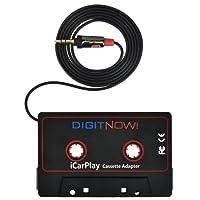 DIGITNOW! Adaptateur de cassette audio cassette jack (Noir)