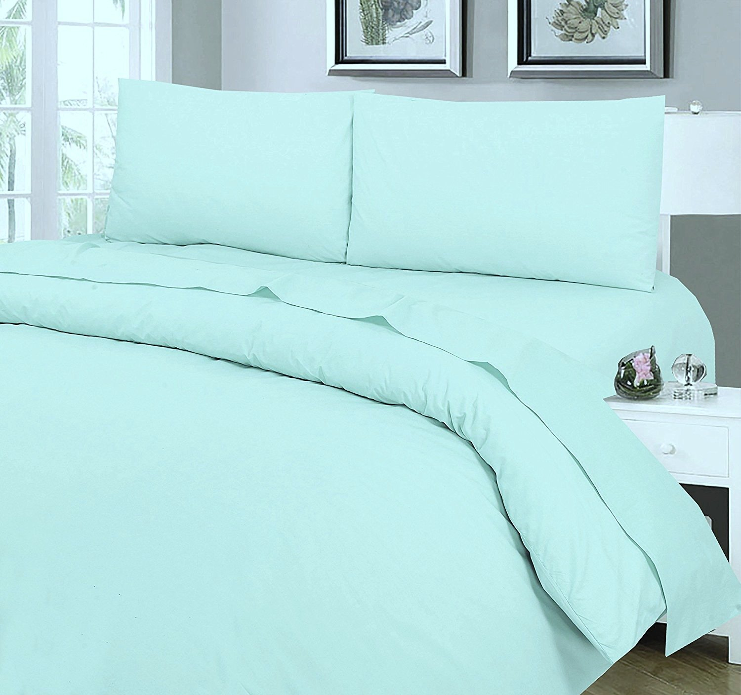 Love2Sleep EGYPTIAN COTTON FITTED SHEET HOTEL QUALITY   4FT (SMALL DOUBLE)  DUCK EGG BLUE: Amazon.co.uk: Kitchen U0026 Home