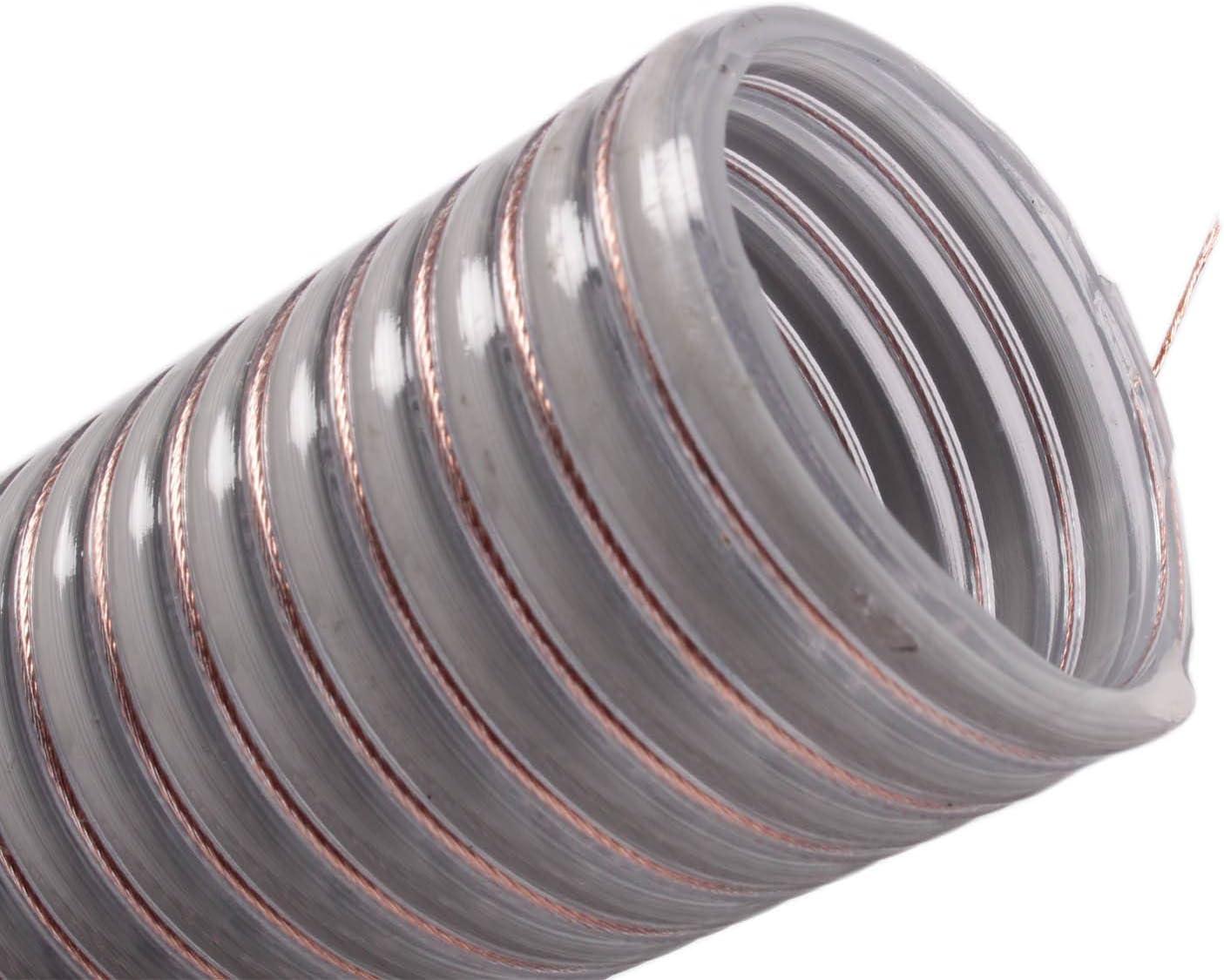 silos24 104160 Pelletschlauch 25 Meter NW 50 mm mit CU-Litze Saugschlauch R/ückluftschlauch F/örderschlauch Schlauchl/änge:25 m