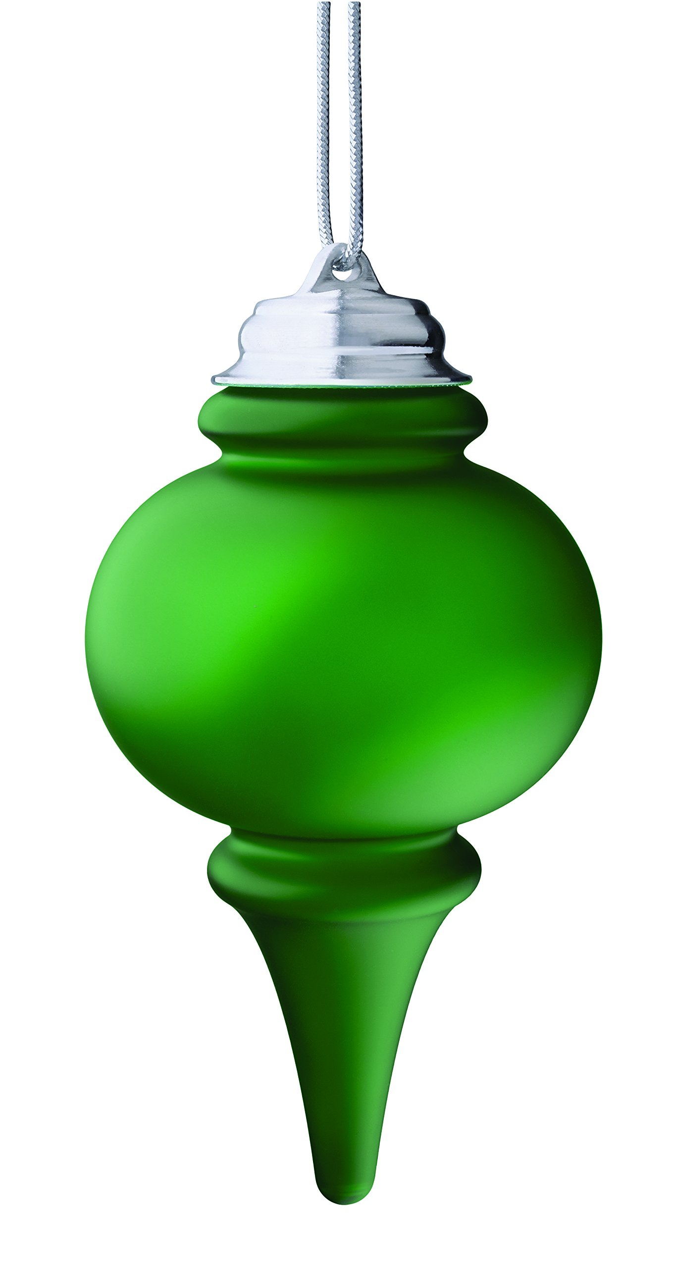 XODUS Innovations WP660 Battery Powered Hanging Decorative Outdoor LED Pulsing 5'' Finial Light with Sensor Turns-on At Dark, Green