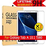 Galaxy Tab A 10.1 Glass Screen Protector,[2Pack] AnoKe[Case Friendly](0.3mm 9H) Tempered Glass Screen Protector Film Sheild For Samsung Galaxy Tab A 10.1,T580/T585 Glass -2Pack