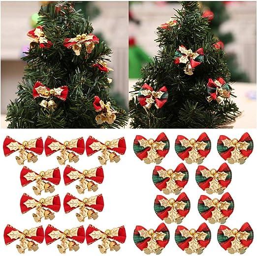 12Pcs Bows Christmas Tree Decoration Xmas Bowknot Party Garden Festival Ornament