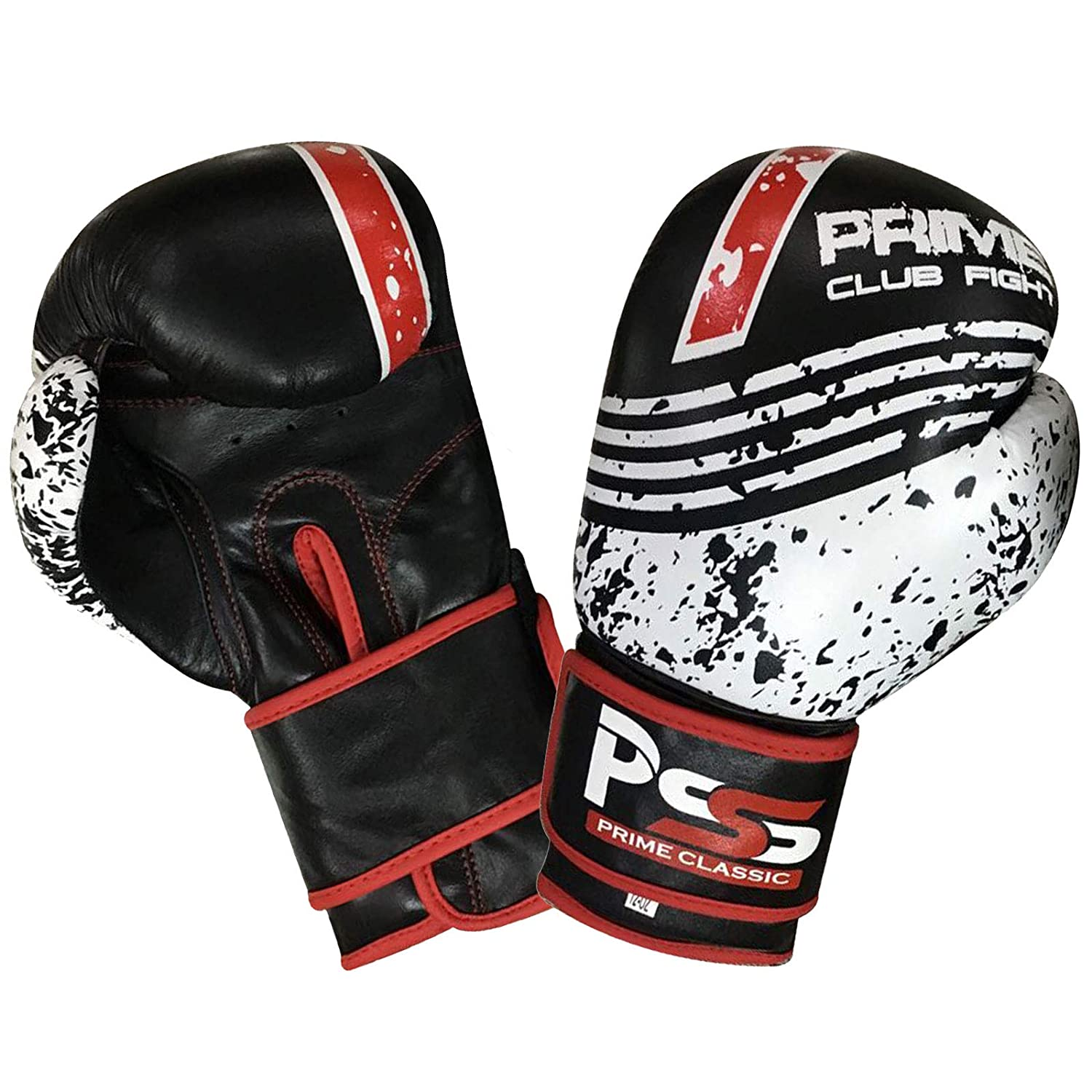 Prime Real Leather Boxing Gloves Punch bag Training Mitt Kick Boxing Fight Adult Sizes 1051-1053