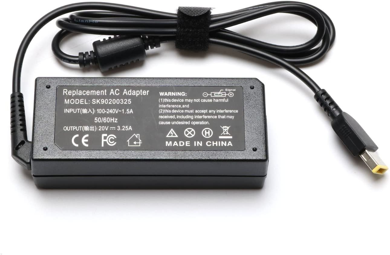 65W 20V 3.25A AC Adapter Battery Charger for Lenovo IdeaPad Yoga 13 Lenovo ThinkPad Edge E531 6885BJU,Lenovo ThinkPad Edge E531 6885BKU,Lenovo ...