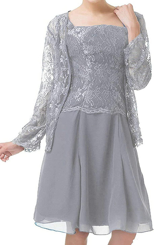 UGLY Womens Half Sleeve V-Neck Mother of The Bride Dresses Hand-Sewn Appliques Formal Dress Chiffon UG048