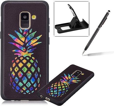 Teléfono móvil para Samsung Galaxy A8 2018 Negro Stylish silicona ...