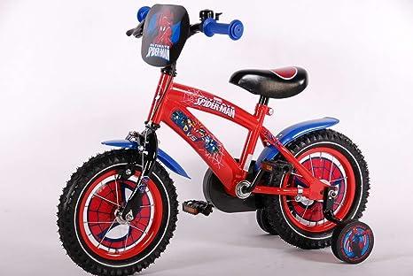 Bici Bicicletta Bambino Uomo Ragno 12 Pollici Con Ruotine Da 3 4 5