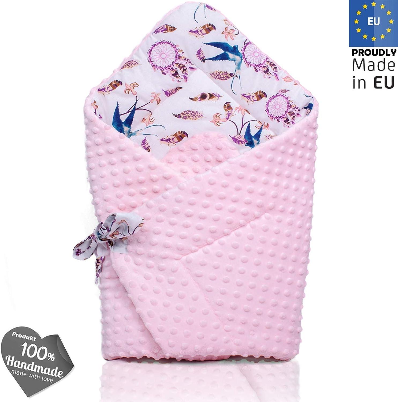 PALULLI nido de 95 x 55 cm, coj/ín de lactancia, colch/ón para beb/és, manta, coj/ín plano, coj/ín cervical, suave como el acurrucar Set de 6 piezas para beb/é rosa Pony oto/ño.