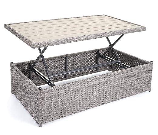 Platzwunder Gartengarnitur Sitzgruppe Poly-Rattan Garnitur HWC-E29