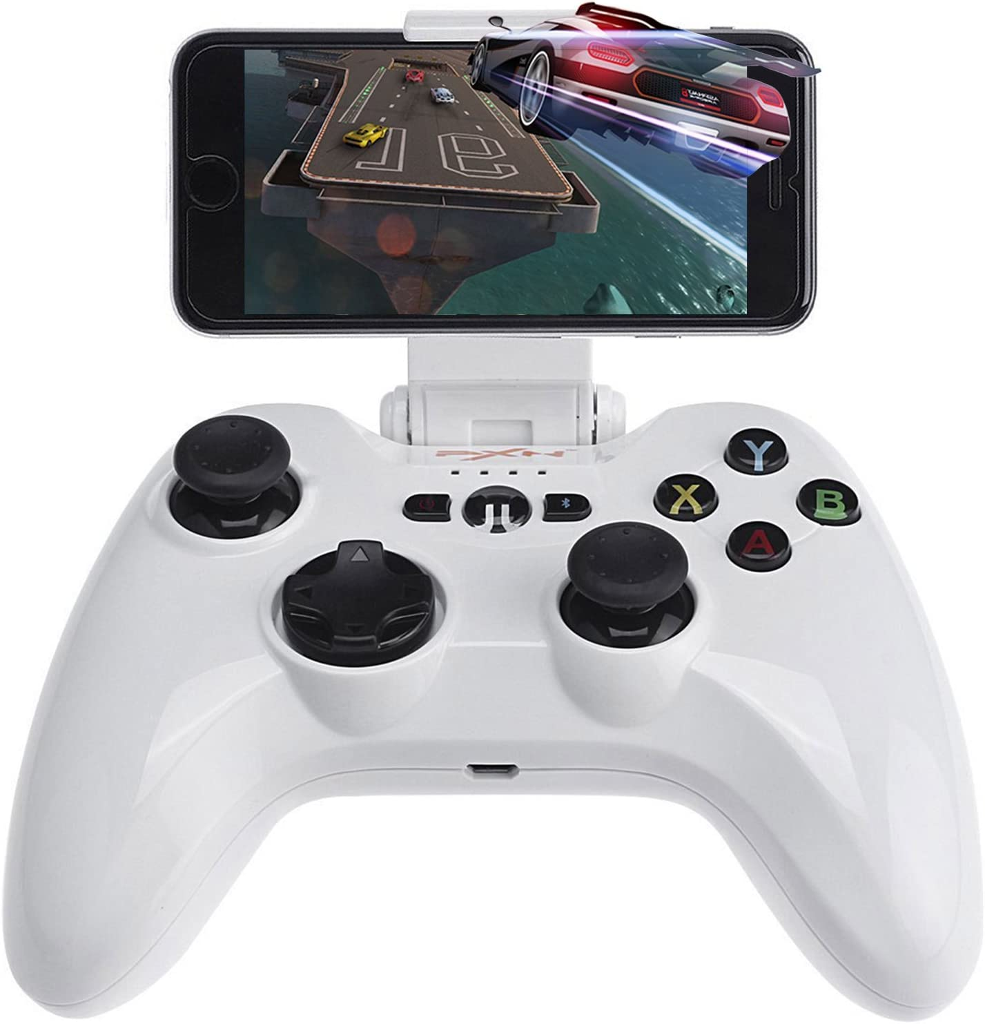 MFi Game Controller for iOS, PXN 6603 Speedy Wireless Joystick Gamepad for iPhone, iPad, iPod, Apple TV(White)