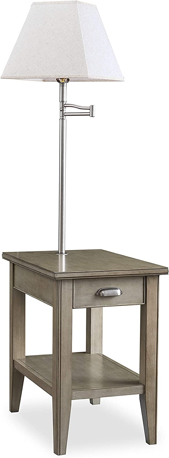 Leick Furniture, Inc. Laurent Collection, Finish Lamp Table, Smoke Gray-wash