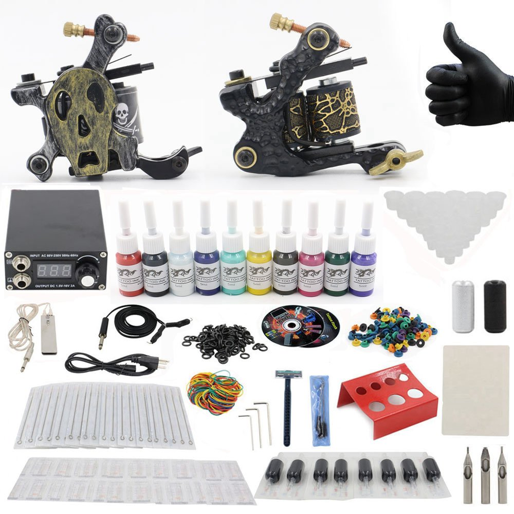 Amazon.com: Complete Tattoo Starter Kit - CINRA Complete Tattoo Kit ...