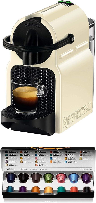 Nespresso DeLonghi Inissia EN80.CW - Cafetera monodosis de cápsulas Nespresso, 19 bares, apagado automático, color crema: Amazon.es: Hogar