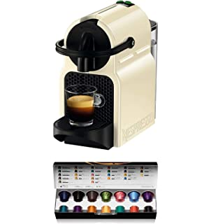 Krups Nespresso Inissia XN1001 - Cafetera monodosis de cápsulas Nespresso, 19 bares, apagado automático, color blanco: Amazon.es: Hogar