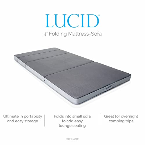 Lucid 4 inch Foldable Mattress