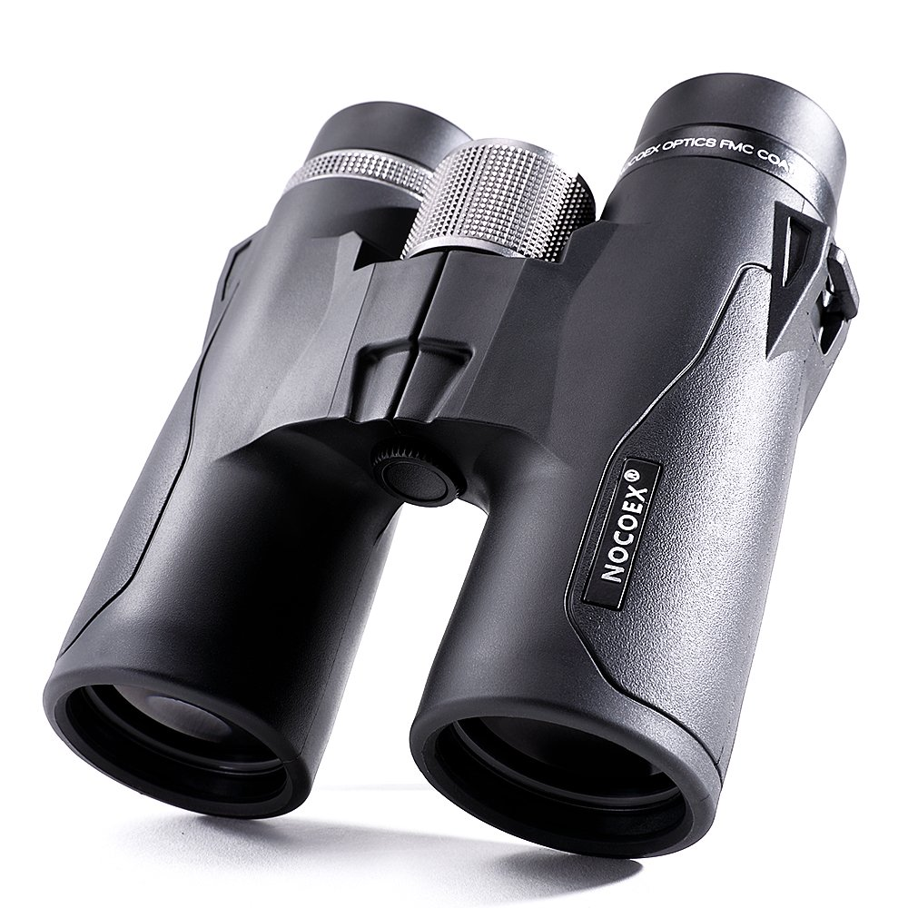 NOCOEX 10x42 HD Roof Prism Compact Binoculars, Water, Fog and Shock Proof, Suitable for Bird Watching, Stargazing and Hunting, Black by NOCOEX