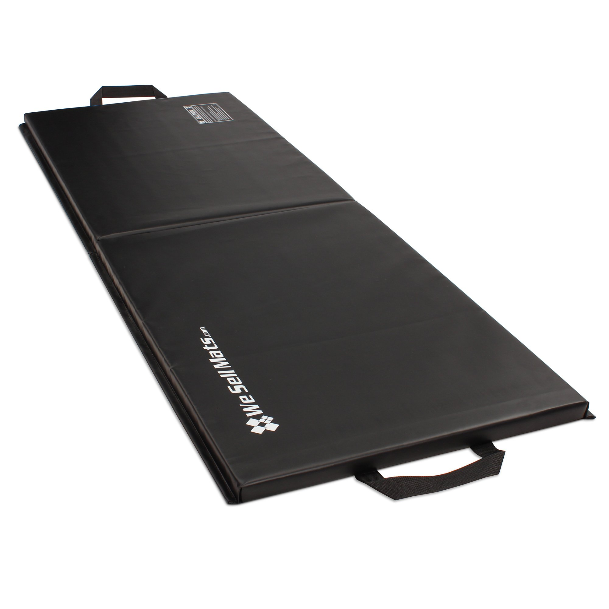 We Sell Mats 2x6 Folding Exercise Mat, Black