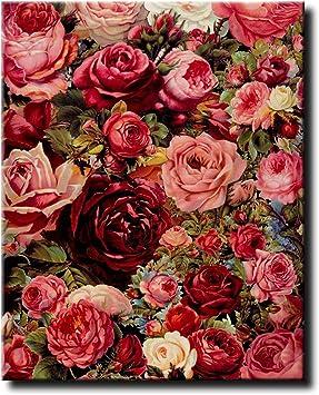 Malen nach Zahlen Kit DIY Cottage Flower Canvas Öl Wandkunst Bild Ornamente