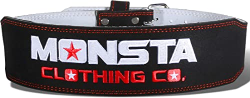 Monsta-Weightlifting-Belt- A-WB-011-BK-RD Small Black