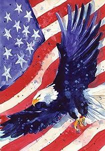 """Toland Home Garden 118227 Liberty Eagle 12.5 x 18 Inch Decorative, Garden Flag (12.5"""" x 18"""")"""