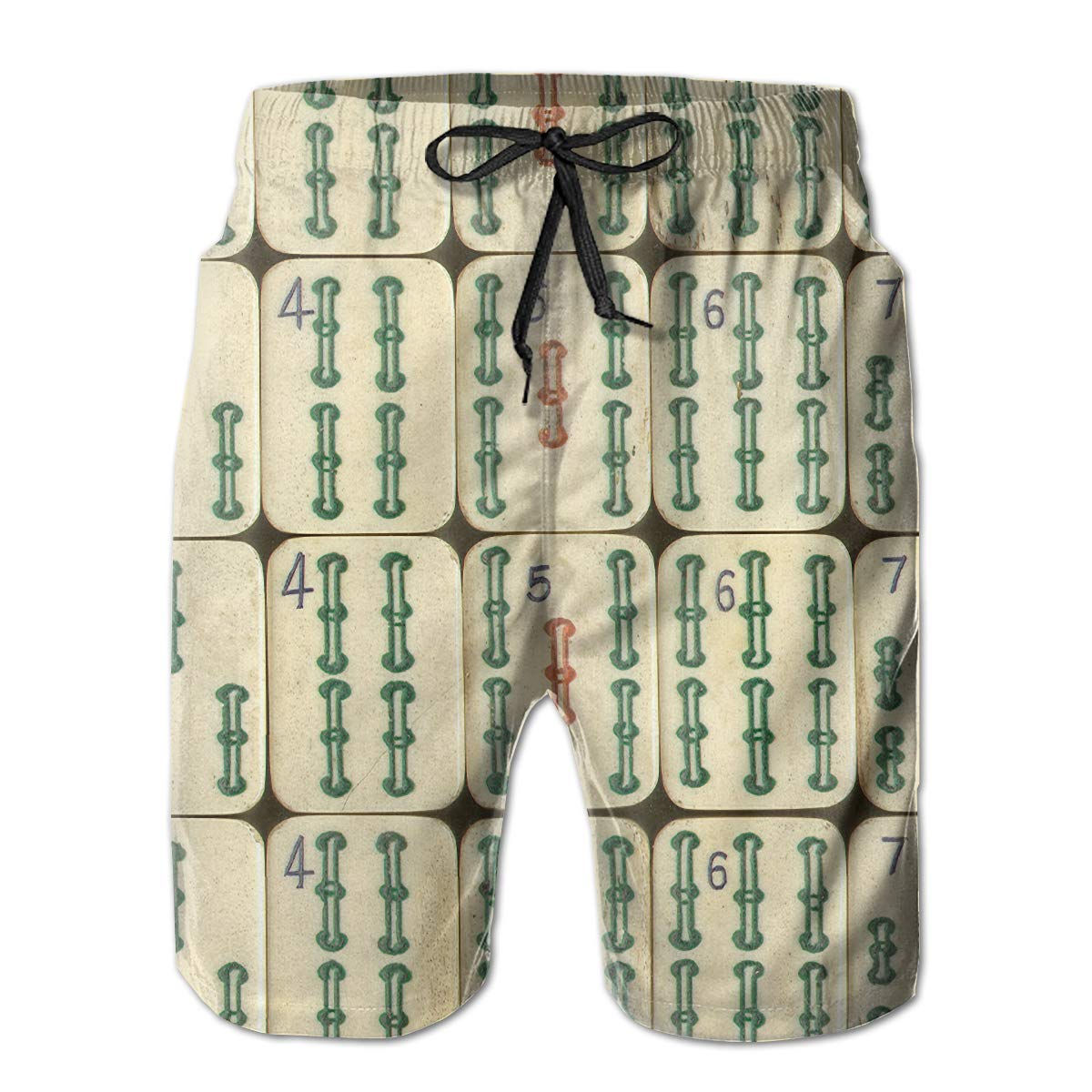 Quick Dry Board Shorts 3D Print Swimwear with Pockets Men Casual Beach Shorts