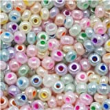 Jablonex 1-Ounce Czech Seed Beads Mix, Size 6/0, Pastel Pearl Assorted